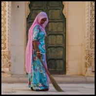 Jodhpur - Woman Sweeping