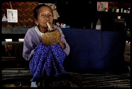 Burma Ma with Cigar - Bagan