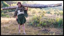 Man Carrying Log - Shan State