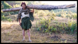 Man Carrying Log - Shan State