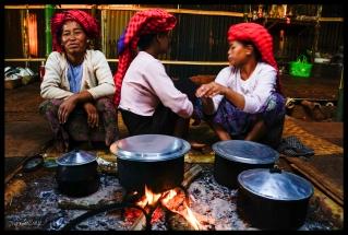 Pa-O Dinner - Pattu Pauk Village, Myanmar