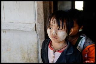 Danu Child in Thanaka - Myin Ka Village, Myanmar