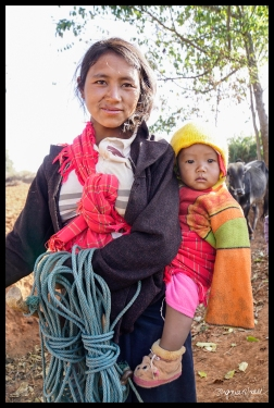 Pa-O Woman and Child - Shan State