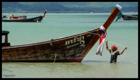 Man and Boat - Koh Yao Noi