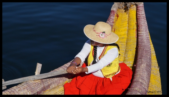 Lake Titicaca - Woman Rowing