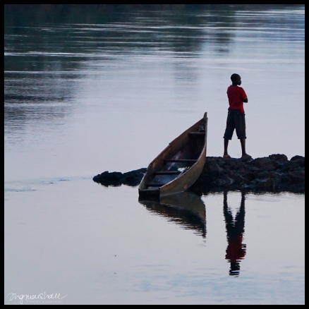 Boat and Boy on the Nile