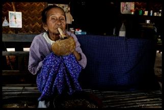 Burma Ma with Cigar