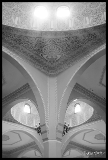 Mosque Sunshine BW