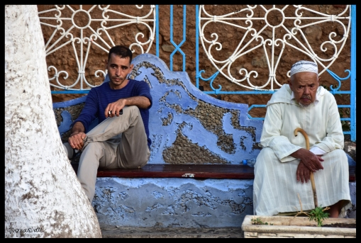 Men on the Bench - Chefchaouen