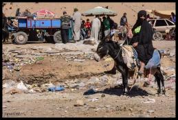 Woman with Donkey - Rissani
